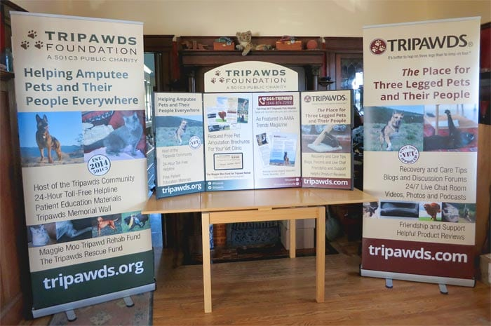 New Tripawds Foundation Display