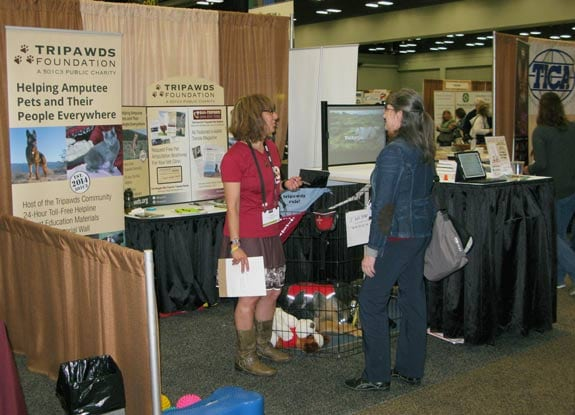 Tripawds Booth at AAHA 2016