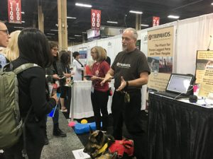 Tripawds booth at WVC
