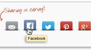 social network sharing buttons