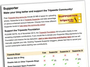 tripawds supporter blogs