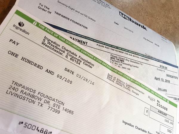 Tripawds Foundation Matching Contributions