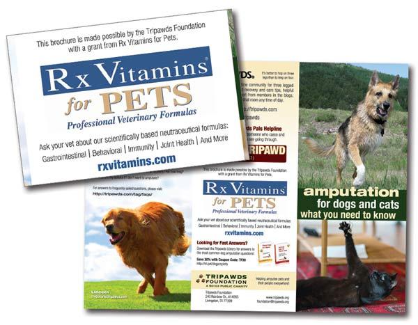 Rx Vitamins Tripawds Brochures