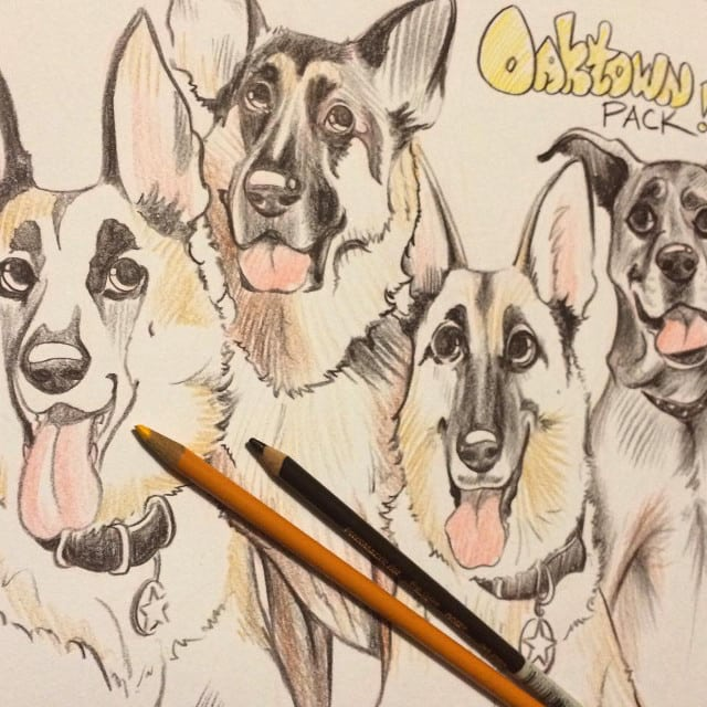 Oaktown Pack Caricature