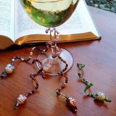 Beaded Wire Wine Charms