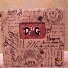 Handmade Dog Scrapbook Cover