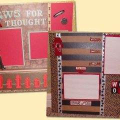 Handmade Dog Scrapbook Pages
