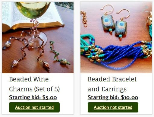 Beaded Jewelry and Wine Charms