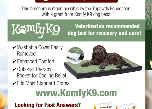 Komfy K9 Sposored Tripawds Brochures