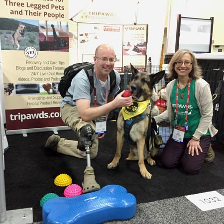 Amputee dog brace hero Ben Blecha and Tripawds