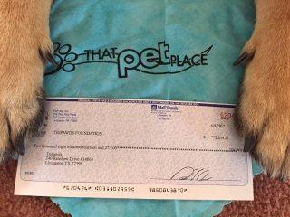 That Pet Place Tripawds Donation 2017