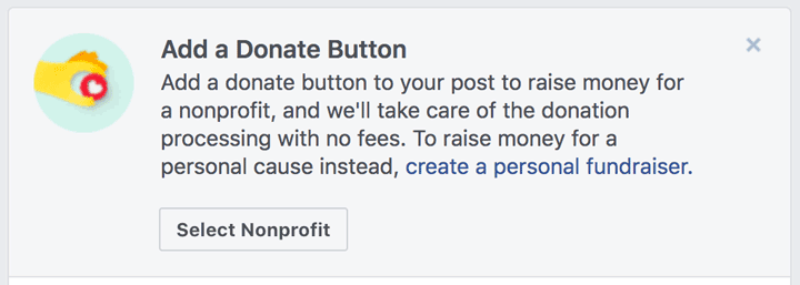 Facebook Donate Button