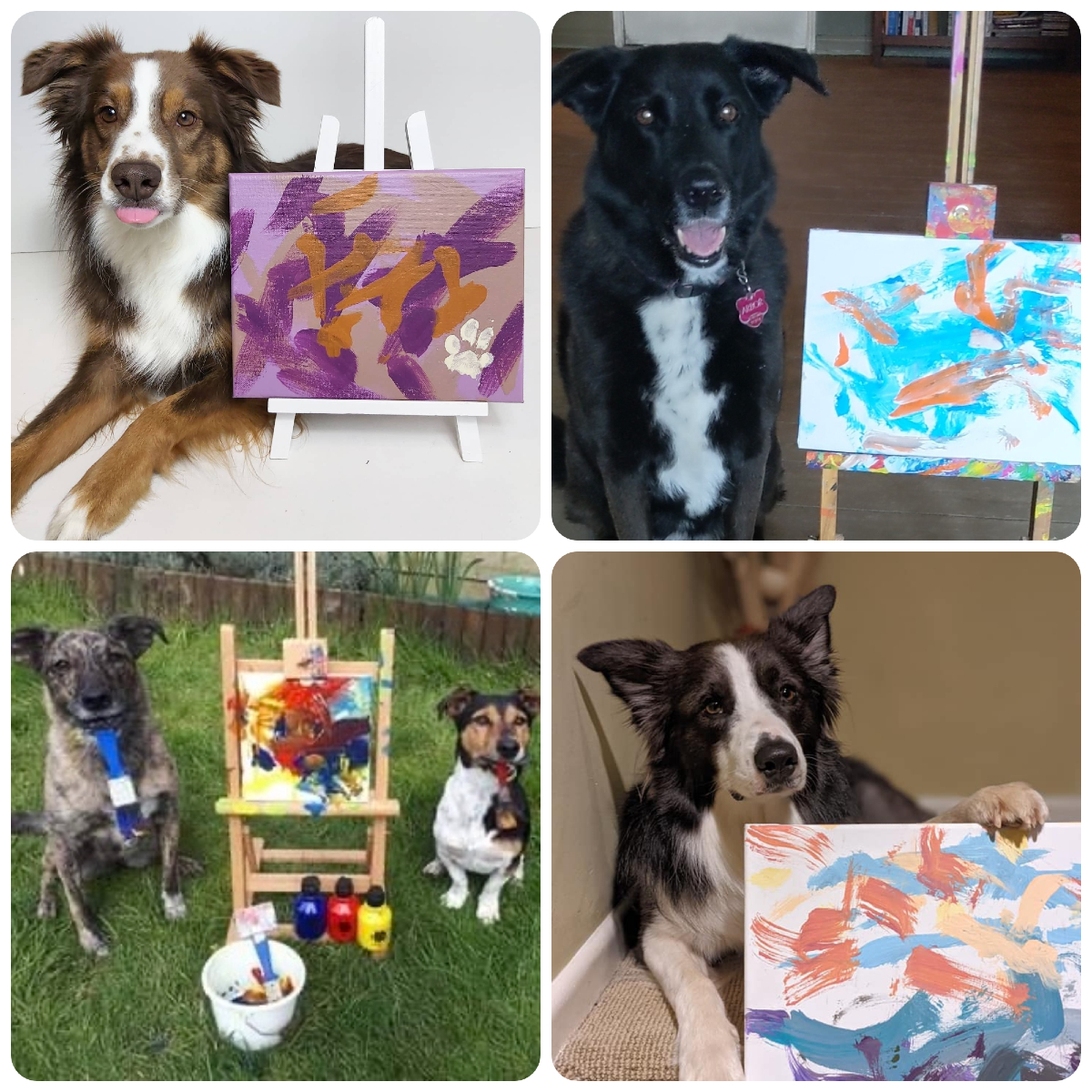 painting dogs Tripawds fundraiser