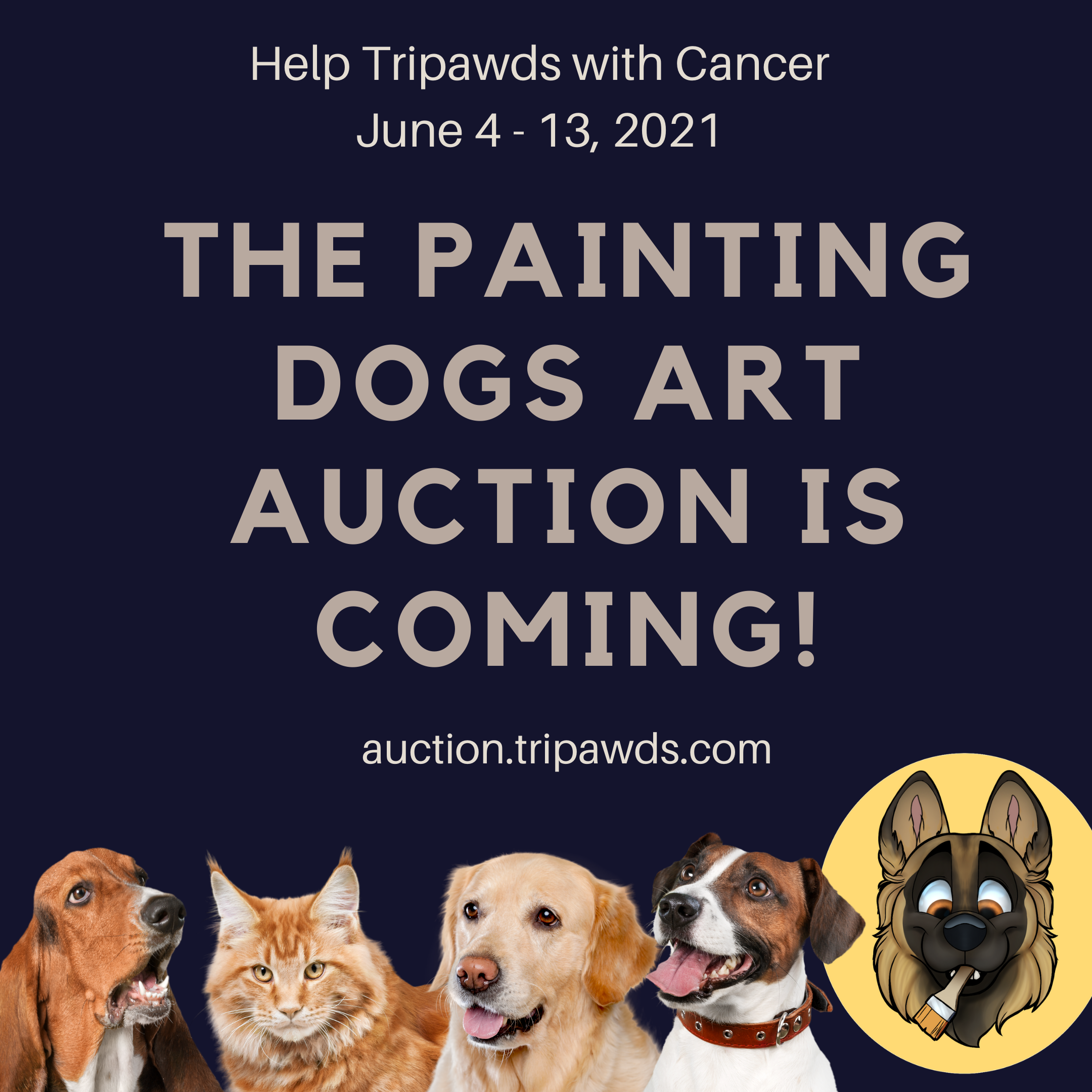Tripawds Painting Dogs Auction