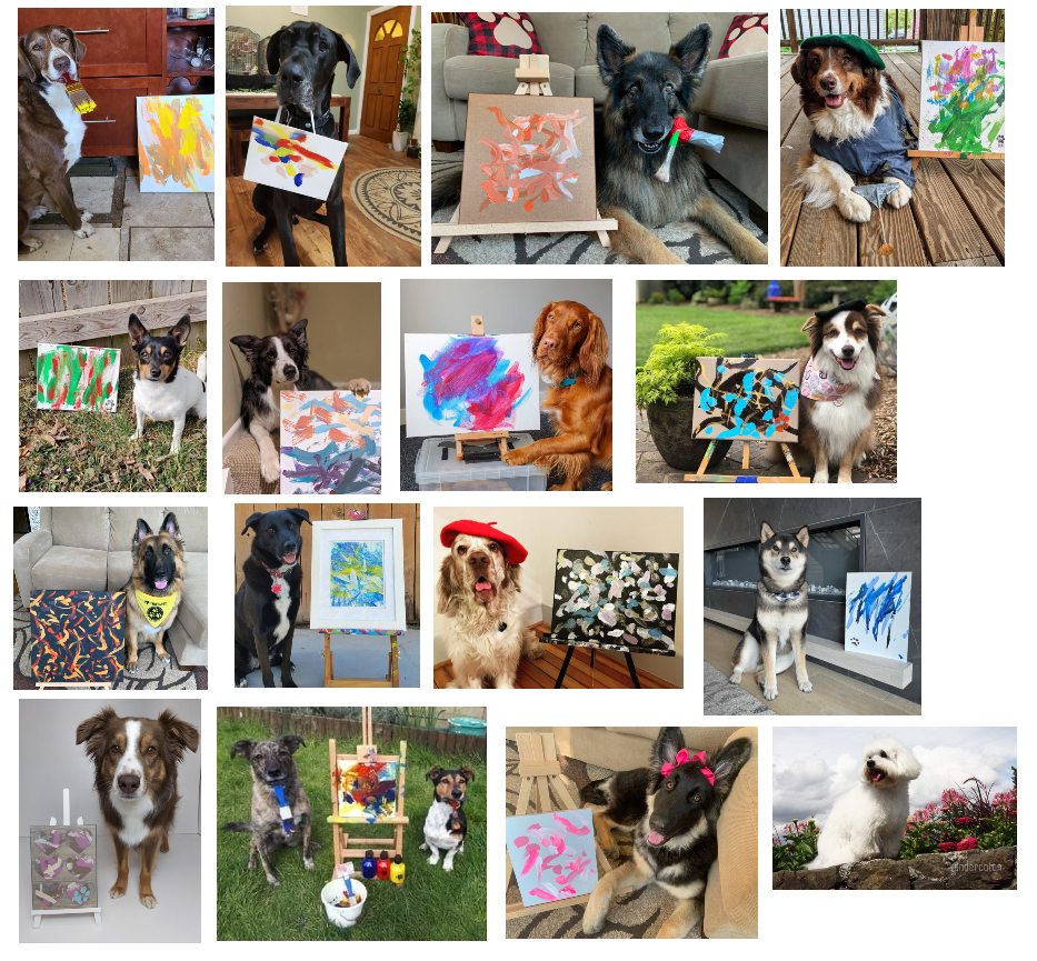 Dogs Who Paint