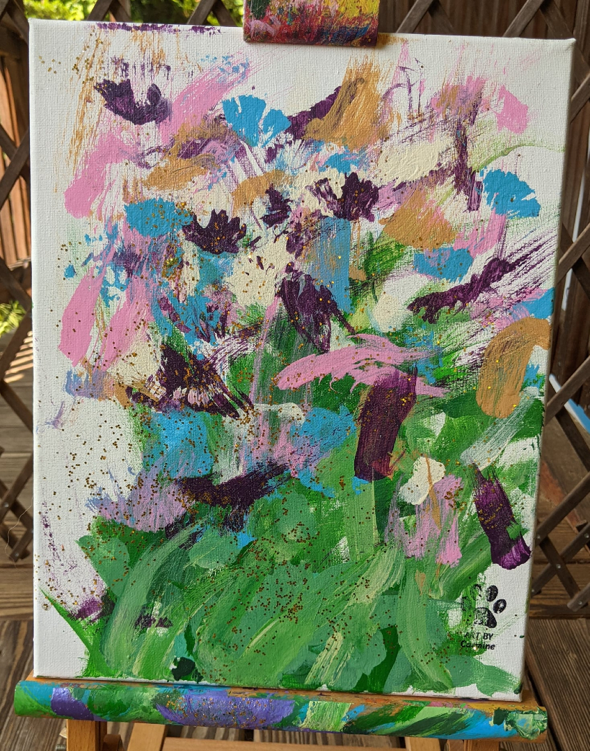 Flowers for Piper by Carmine the Painting Dog